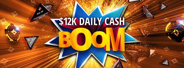 $12 000 i kontantpriser varje dag!